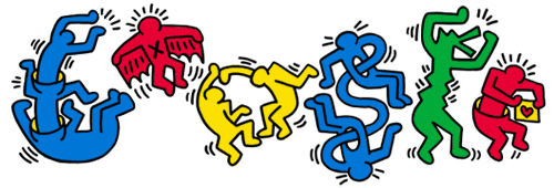 Keith Haring 54th birthday Google Doodle