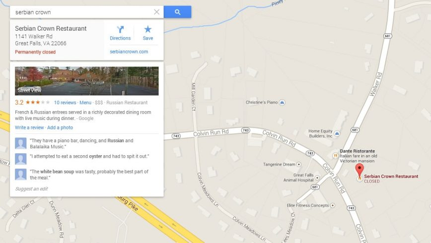 Business Owner in US Takes Google To Court For Google Maps Listing Error - Image copyright Google Maps