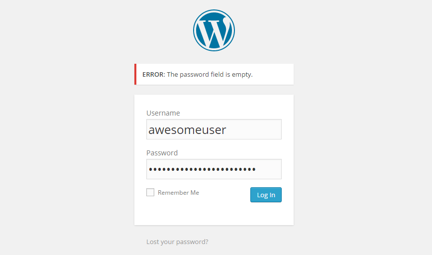 WordPress / 'Error: The password field is empty' – How To Fix