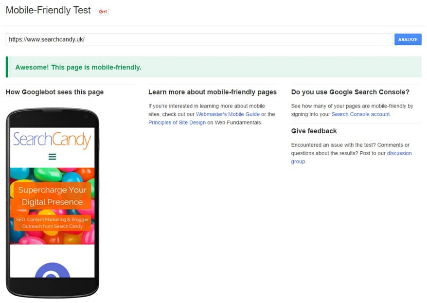 Mobile-Friendly Test Tool