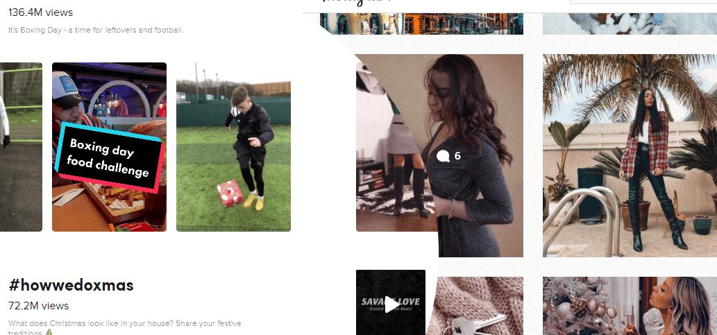 TikTok Instagram video thumbnails